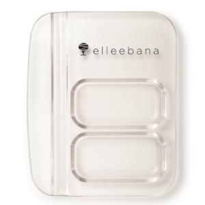 Палитра пластиковая для смешивания хны и краски,2 ячейки,бренд Elleebana